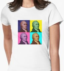 Alexander Hamilton Popart Womens Fitted T-Shirt