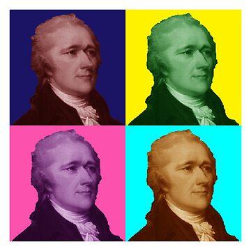 Alexander Hamilton Popart by KHavens
