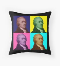 Alexander Hamilton Popart Throw Pillow