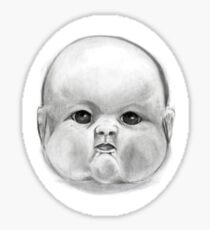 decapitated baby doll head Sticker