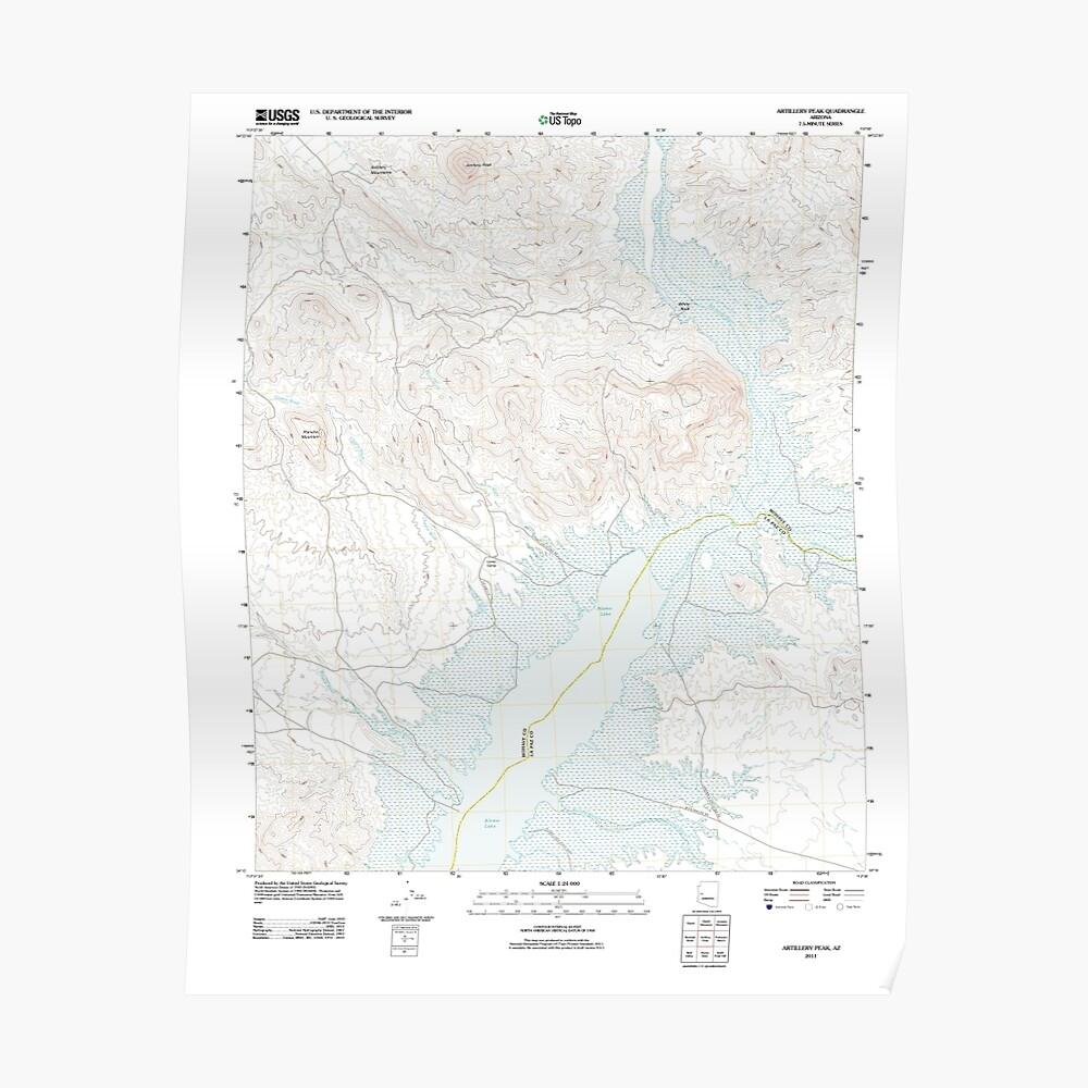 USGS TOPO Map Arizona AZ Artillery Peak 20111021 TM Poster