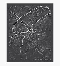 Knoxville Map, USA - Gray Photographic Print
