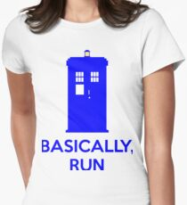 Basically, Run Women's Fitted T-Shirt