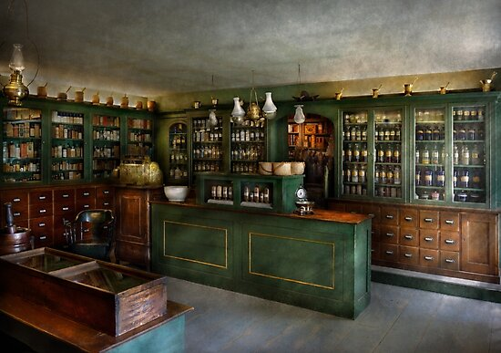Pharmacy - The Chemist Shop  by Michael Savad