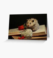 Hamster write a poem Greeting Card