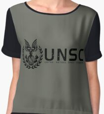 Halo - United Nations Space Command Women's Chiffon Top