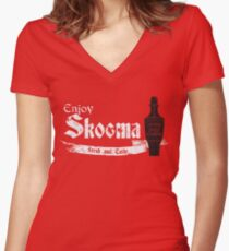 Enjoy Skooma: The Elder Scrolls Women's Fitted V-Neck T-Shirt