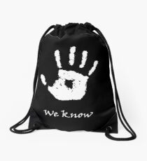 Dark Brotherhood - We Know Drawstring Bag