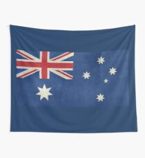The National flag of Australia, retro textured version (authentic scale 1:2) Wall Tapestry