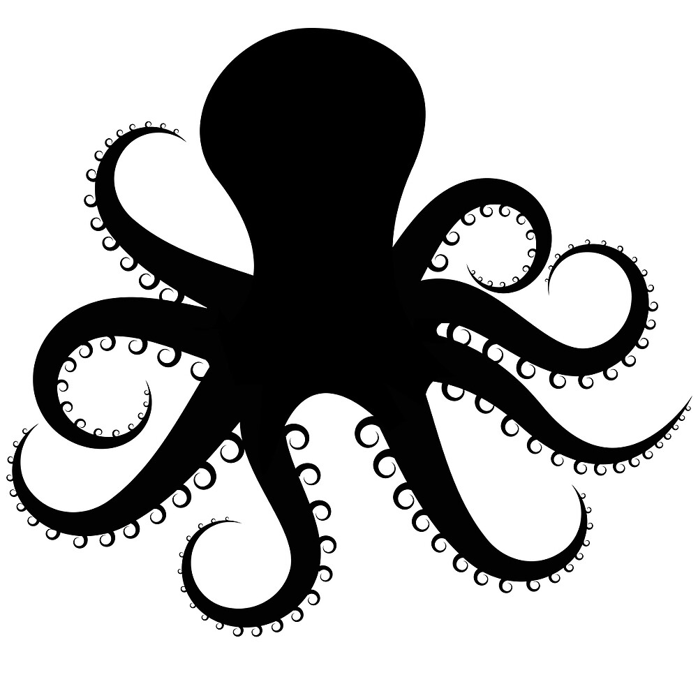 octopus silhouette by mrrodriguez redbubble. Black Bedroom Furniture Sets. Home Design Ideas