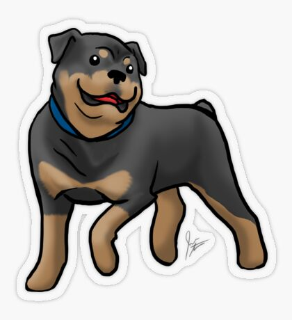 Rottweiler  Transparent Sticker