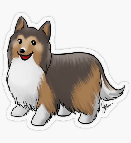 Shetland Sheepdog Transparent Sticker
