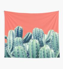 Cactus on Coral #redbubble #lifestyle Wall Tapestry