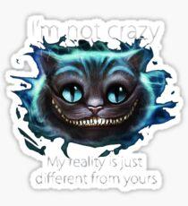 Pegatina Cheshire Cat Quote