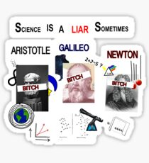 Science Is A LIAR Sometimes Sticker