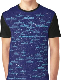 Sci-fi star map Graphic T-Shirt