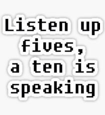 Listen Up Sticker