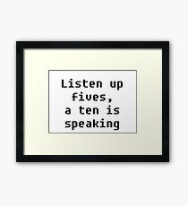 Listen Up Framed Print