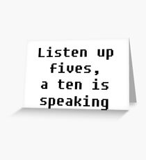 Listen Up Greeting Card