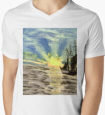 Sailing into the Brightness Men's V-Neck T-Shirt