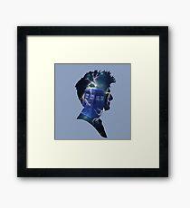 Doctor Who Traveling Tardis Framed Print