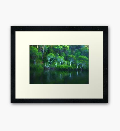 Pittwater Reflections  - Church Point - The HDR Experience Framed Print