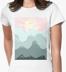 Blue Mountains, Pink Sky Women's Fitted T-Shirt