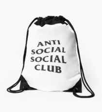Antisocial Social Club Hat Ebay: Drawstring Bags | Redbubble