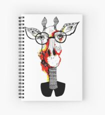 Hipster giraffe is hipster Spiral Notebook