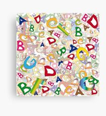 Collage of English letters Canvas Print