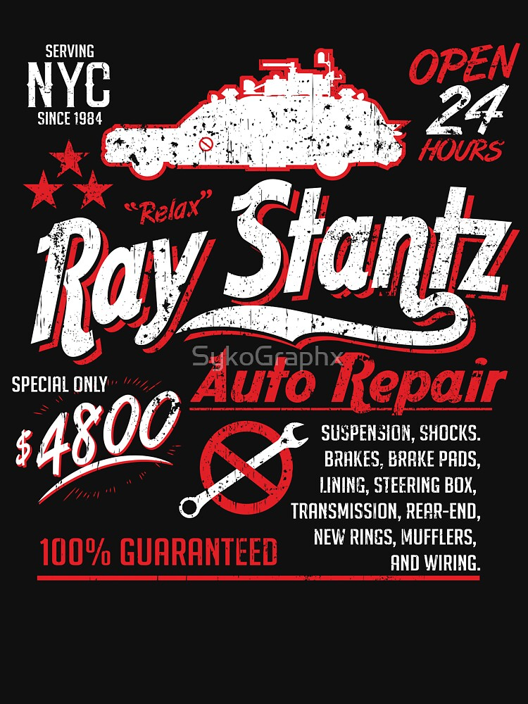 Ray Stantz Auto Repair by SykoGraphx