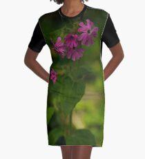 Pink Campion in Prehen Woods, Derry Graphic T-Shirt Dress