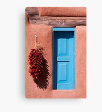 Blue Window Ristras Canvas Print