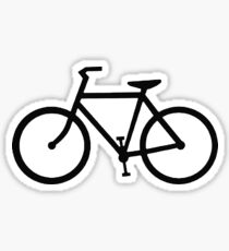 black bicycle bike Sticker