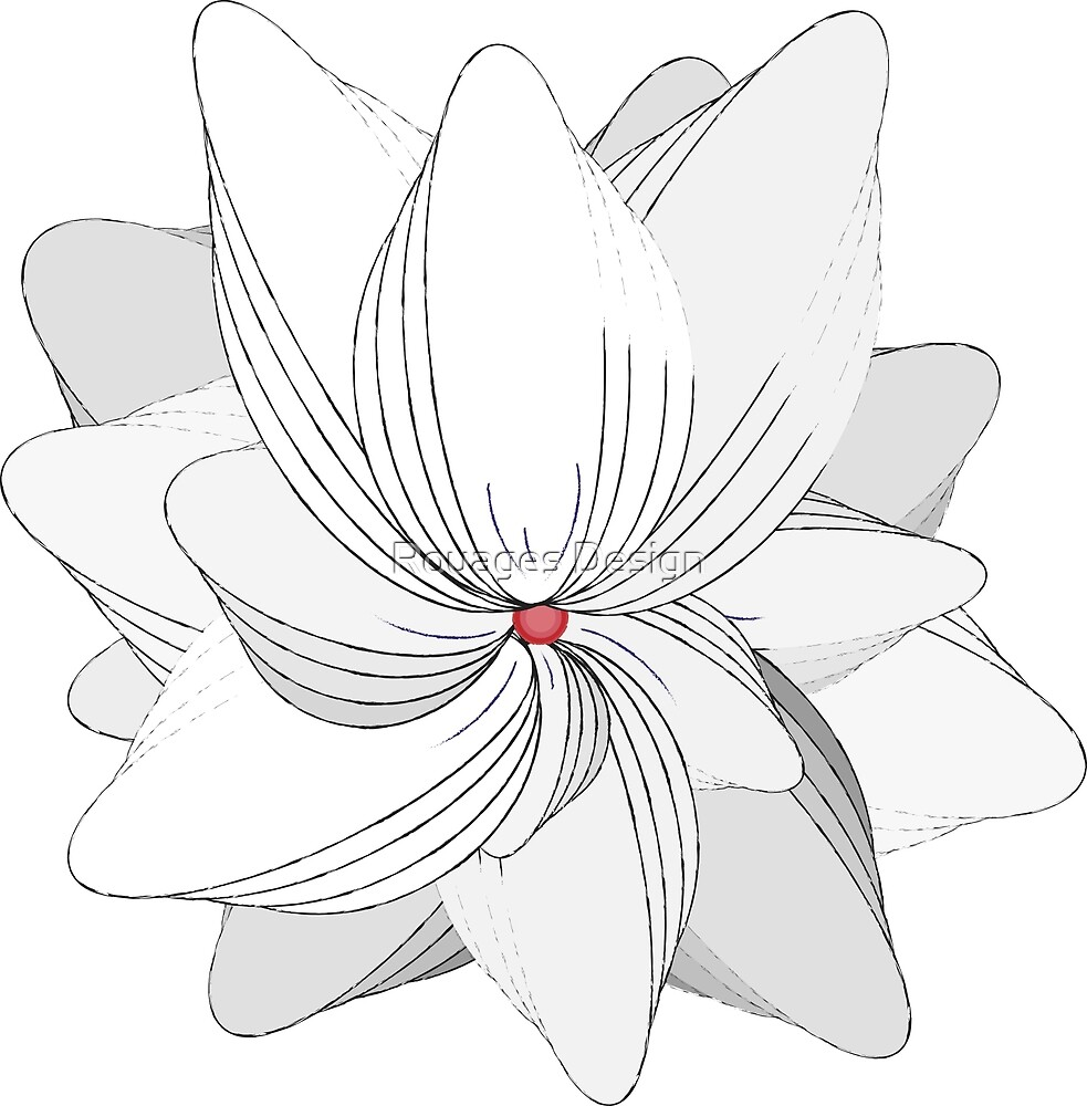 The Flower of my Heart by Rouages Design