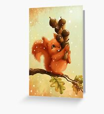Stupid Squirrel Greeting Card