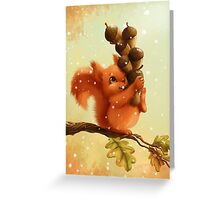 Stupid Squirrel Greeting Card