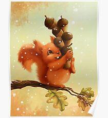 Stupid Squirrel Poster