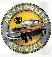 Volvo P544 Swedish Vintage Car Classic Poster