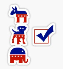 Voting for the Dog in the Race Sticker