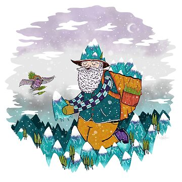 Mountain Guy and Owl Friend by ratkiss