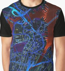 Boston city map dark Graphic T-Shirt