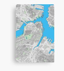 Boston city center building map Canvas Print