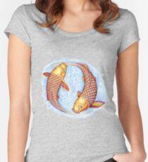 Pisces Fish Yin Yang Mandala Women's Fitted Scoop T-Shirt