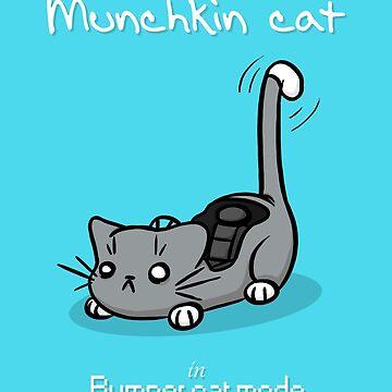 Munchkin cat - Bumper cat mode - white font by Ironmoth