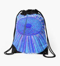 blue zen Drawstring Bag