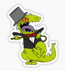 Fancy Reptar The Rugrats Sticker