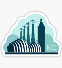 Kansas City in the Clouds Sticker
