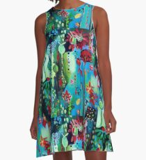 In Amongst The Blooms A-Line Dress