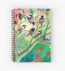Chickadees in Spring Spiral Notebook
